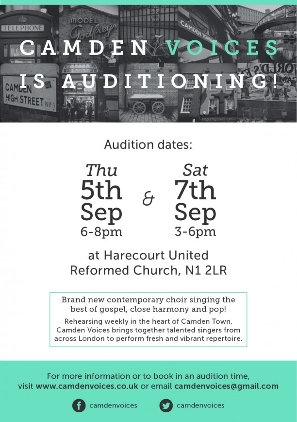 camden voices auditions flyer
