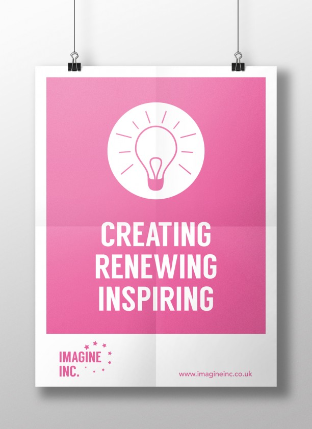 imagine inc poster mockup